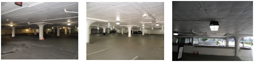 Dark Parking Garage Retrofit from 175W to 80W Induction lamp.